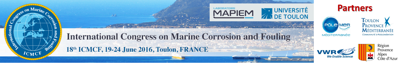 18th International Congress on Marine Corrosion and Fouling – ICMCF 2016